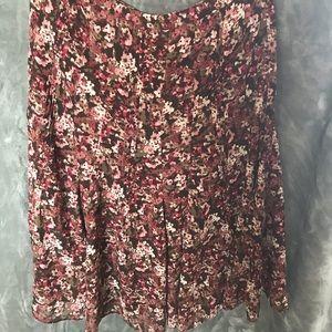 Christopher&Banks flower pattern skirt Size 16